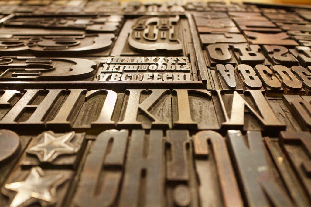 Typografie: Druckplatten